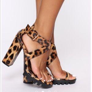 Fashion nova leopard print heels
